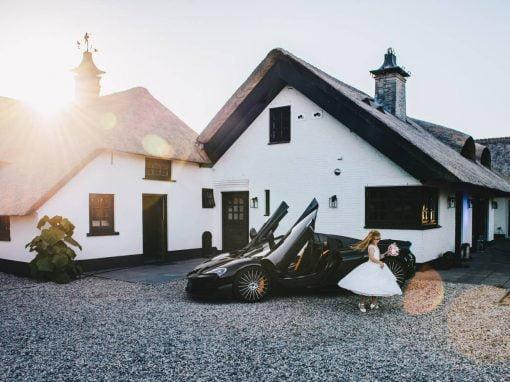 Dromerige festival bruiloft